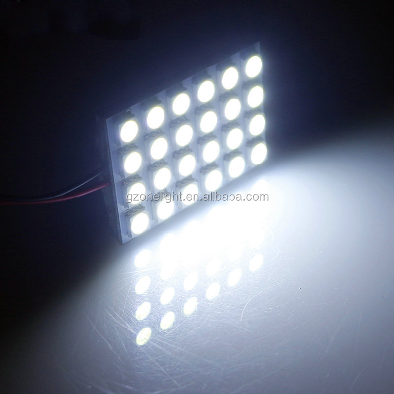 T10 BA9S Interior Festoon Dome LED Panel Light T10 36SMD 5050 LED car roof lining light 12V 1206 36 led roof lights for cars