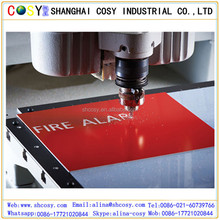 unti-UV never fade red color laser engraving plastic sheet abs / double color sheet /