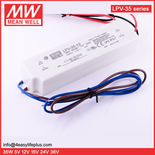 Meanwell 35W 12V 3A IP67 Waterproof Electronic LED Constant Voltage Driver LPV-35-12