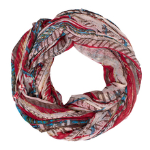 Accept customize printing voile round infinity women neck scarf