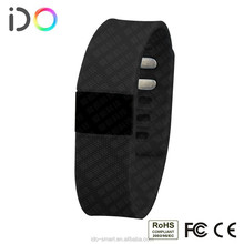 2015 wireless OLED screen pedometer distance calories time display alarm clock call remind cell phone watch