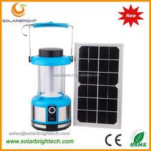 Solarbright manufactured emergency portable rechargeable led hanging camping solar lantern