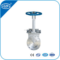 ANSI ASTM standard PN1.0-1.6Mpa Manual knife gate valve with hand wheel
