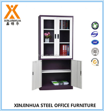 Kd design metal glass door office furniture metal apparatus cupboard