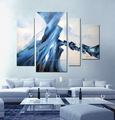 100%handmade abstract oil painting stretched for decor