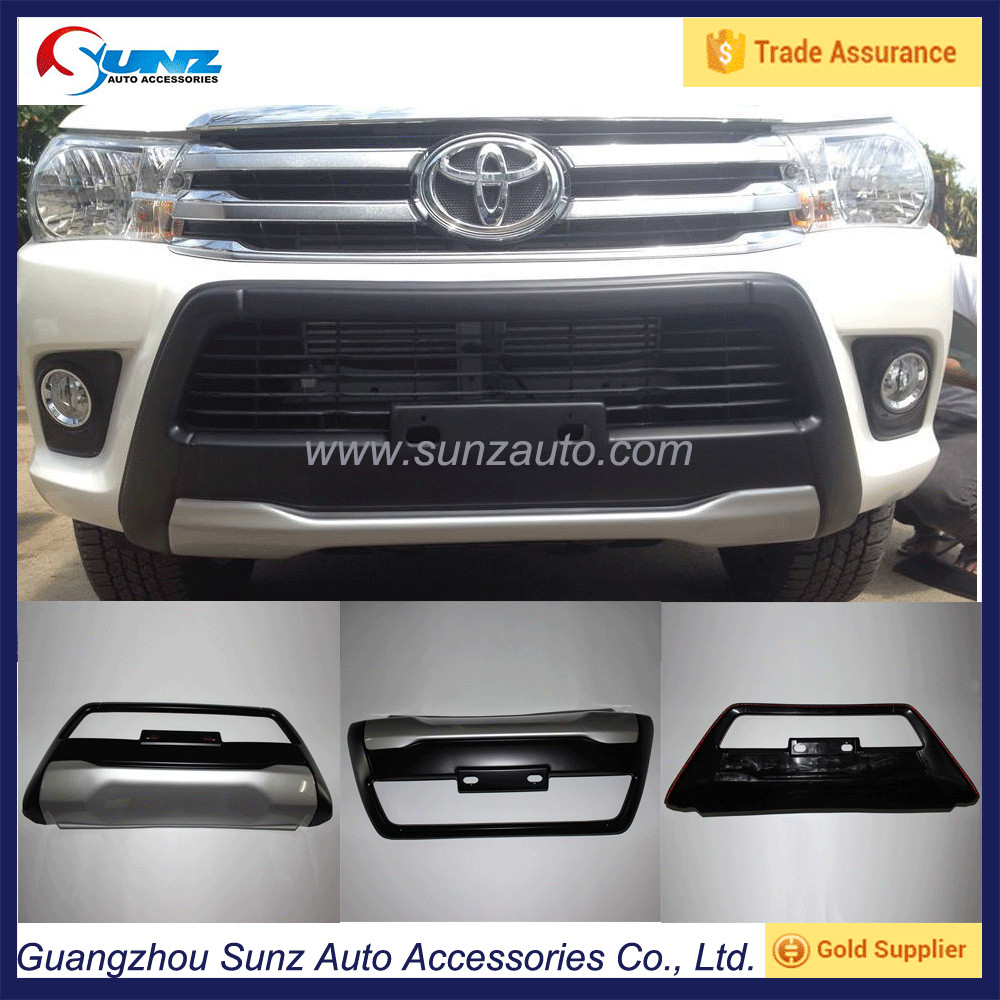 Installed Front Bumper Double Color For Hilux Revo 2015 Sunz Auto Parts for 2016 Revo