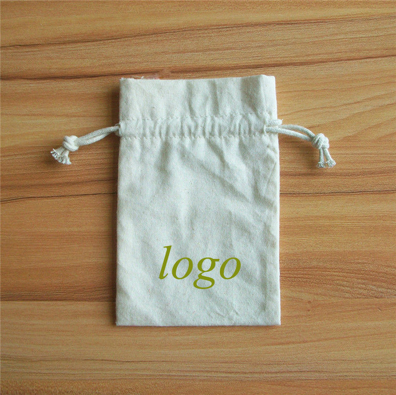 natural cotton cloth bags with drawstring for underwear