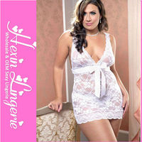 Mature women white sexy lingerie for fat women