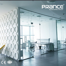 Office aluminum alloy frame glass wall partition design
