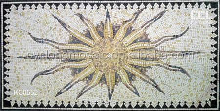 Marble mosaic series of the sun patterns,art mosaic stone