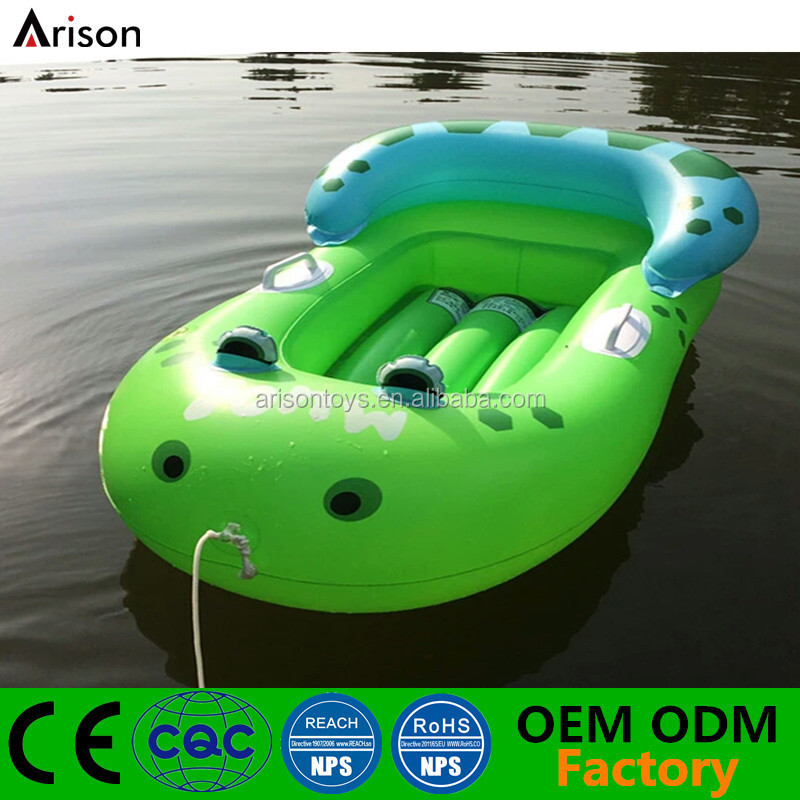 Customizable environmental inflatable baby boat inflatable baby raft for pool floating toys