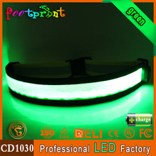 custom reflective sport led elastic waist belt