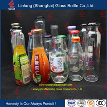 Wholesale manufacture import 120ml,200ml,8oz,300ml,500ml,750ml twistable cap juice beverage glass drinking bottle