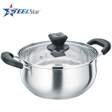 High end Promotion gift #304 stainless steel soup pot with glass lid