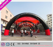 Attractive design transparent inflatable paintball tent/bunker tent inflatable