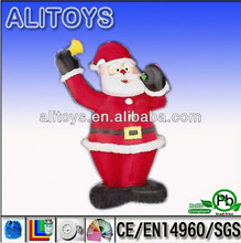 New Style outdoor christmas santa christmas moving santa on motorcycle