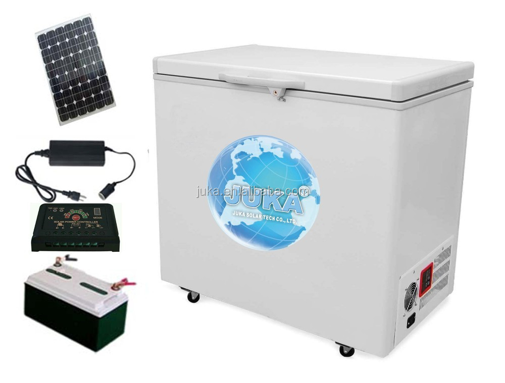 New products digital display chest freezer 200L dc solar freezer