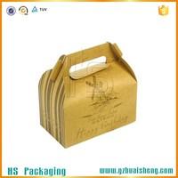 Small Logo Printed Custom Brown Kraft Paper Lunch Box For Food