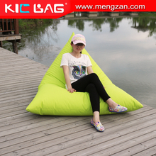 Oversized waterproof triangle shape beanbag chair