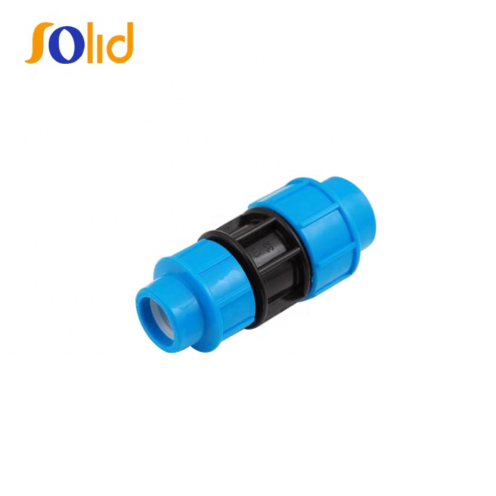 PP compression fittings reducing coupling Union for pe pipe
