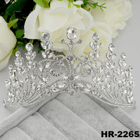 Hair accessories fashion jewellery tall big pageant crowns for sale rhinestone pageant crowns