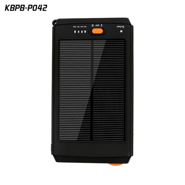 Real capacity 12000mah solar laptop backup battery charger For Mobile Phone