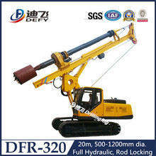 20m DFR-320 full hydraulic rotary pile driver for sale