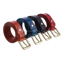 Fashion Stylish Italian genuine Leather Lady Belt With Pin Buckle