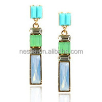 Shiny crystal wholesale terracotta earring jhumkas NSER-12973