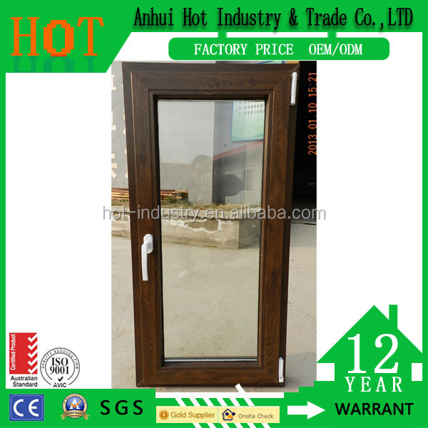 Window design pictures double glazed swing upvc windows/plastic steel PVC casement window