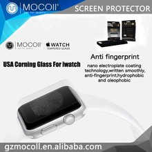 MOCOll Brand Free Sample 0.1mm,0.15mm Ultra Thin USA Corning Tempered Glass Screen Protector For Apple Watch