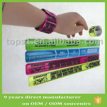 reflective snap slap wrap bracelet