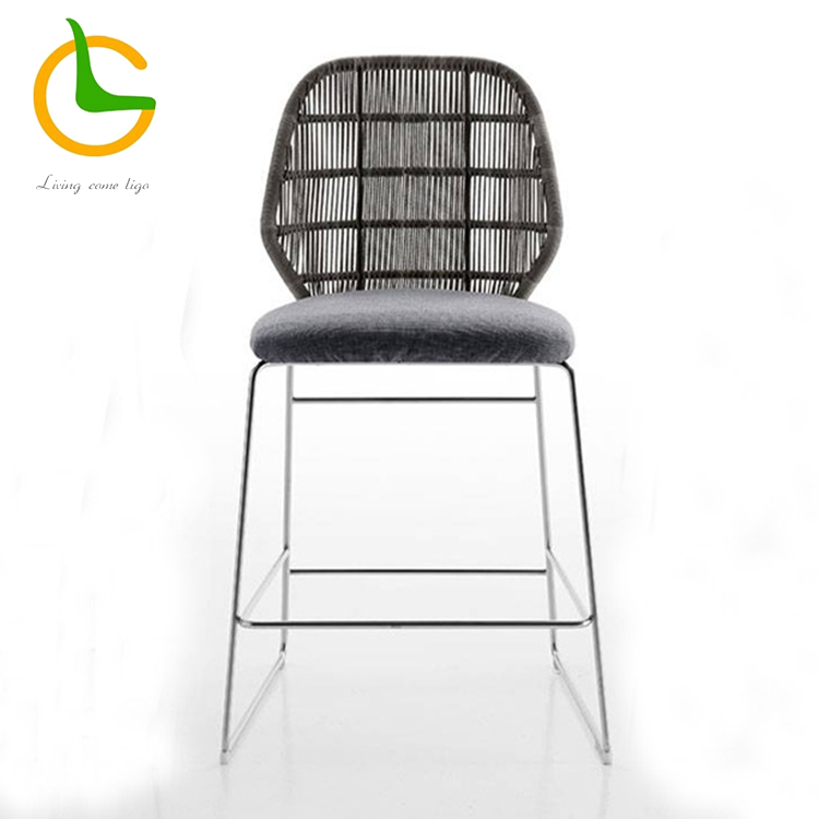 High quality stylish rattan outdoor bar stool
