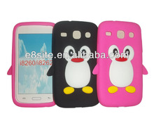 Alibaba China Penguin Silicone Case For SamSung i8260 Galaxy Core