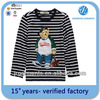 Custom T/C 65/35 yarn dyed t shirt special factory owns BSCI stripe full body printed t shirt