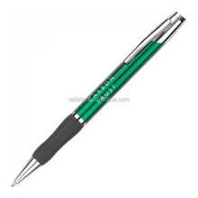 Metal promotional pens with rubber grips/pens with logo print