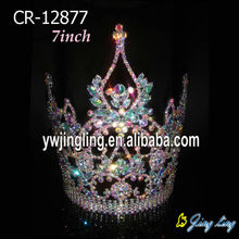 AB Rhinestone Large Princess King Tiaras Pageant Crowns For Wedding