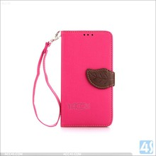 Alibaba China manufacturer leaf design leather cover wallet case for lg g3