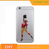 factory price American Football Player plastic hard clear printed phone case for iphone 6