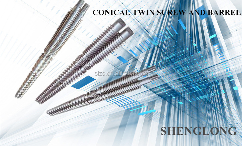 75/150 concial twin screw barrel for extruder