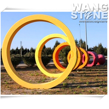 Colorful Concentric Circles Modern Garden Decorative Metal Sculpture