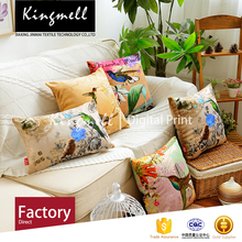 Provide customization cushion cover cotton canvas digital printed