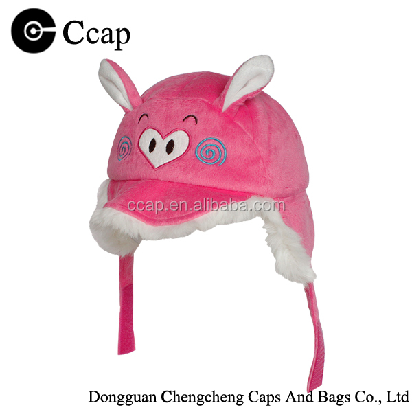 High quality animal winter earflaps hat children