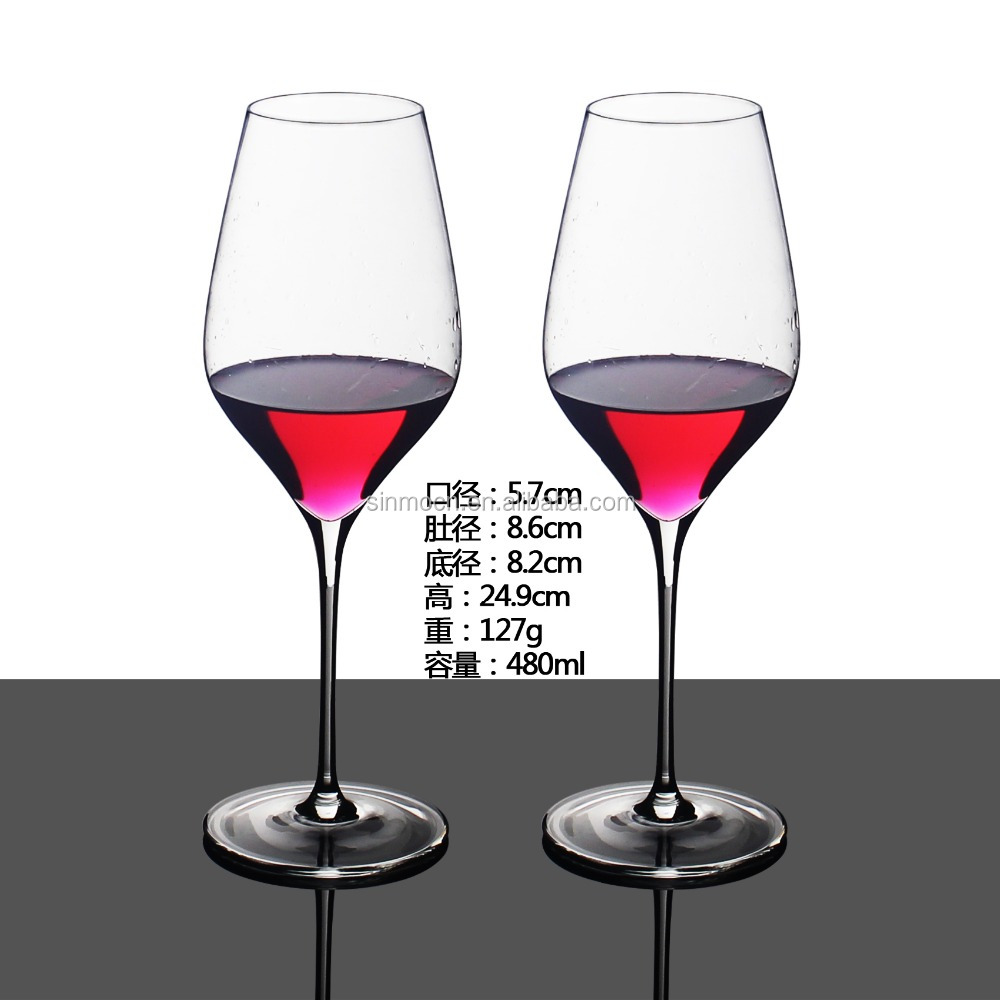 customized clear wine glass and wine glass cup
