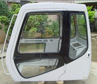 cab SK200-5 excavator cabin, SK200-3 operator cabin,SK200-3 driving cab with glass and door