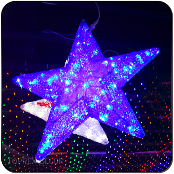 Star shape Christmas string led star light effects