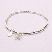 SJTSL00543 Aliexpress china jewelry real gold plated environmental brass love letter charming starfish pendant bracelet for girl