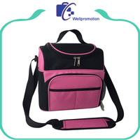 Functional insulated cooler bag fabric / polyester fitness cooler lunch bag for picnic