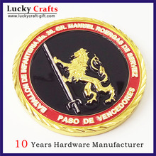 cheap custom made zinc alloy casting fake gold plated gold Army souvenir token challenge coin