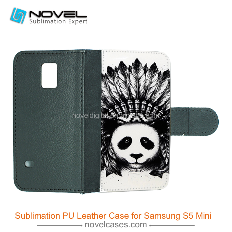 Hot sale !!! sublimation leather case for samsung galaxy s5 mini